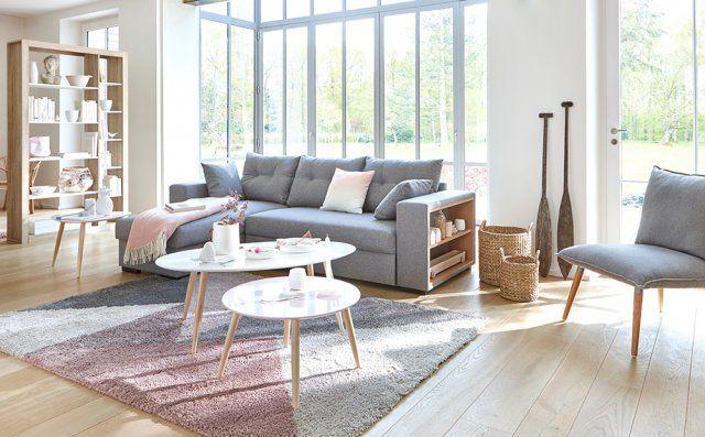 Canapé d'angle gris cosy, But. Un canapé d'angle, convertible, avec rangement intégré dans l'accoudoir... Que voulez-vous de plus ?