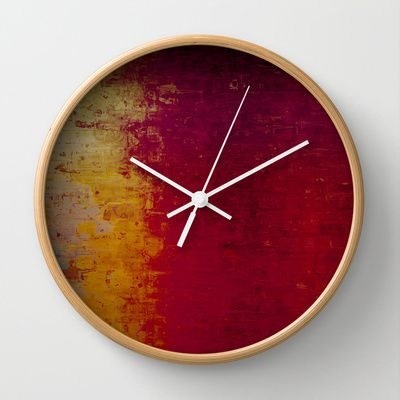 Abstracion Wall Clock by Jean-François Dupuis - $30.00