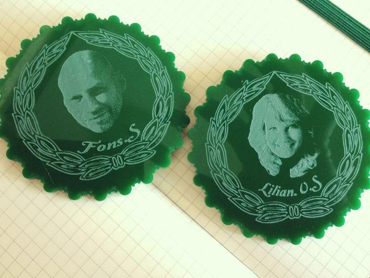 Fab MeetUp guest speaker badge! Laser cut on acrylic