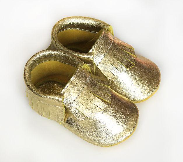 Mocassin pour Bébés dorés