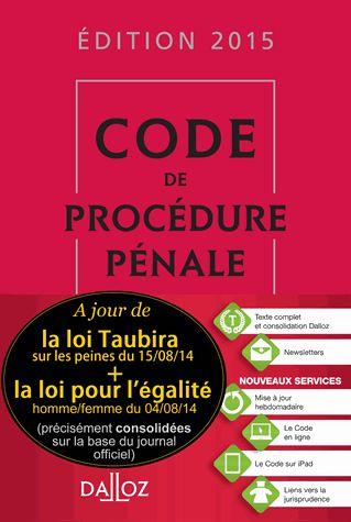 Code de procédure pénale 56e édition