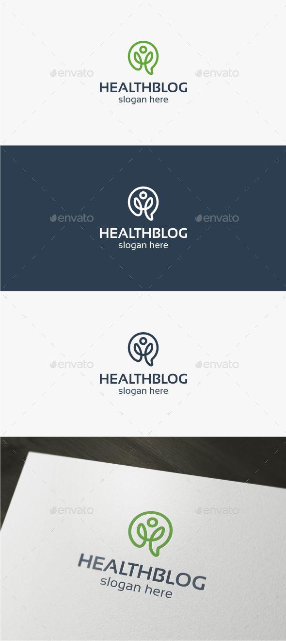 Health Blog Logo Template Vector EPS, AI. Download here: http://graphicriver.net/item/health-blog-logo/15341032?ref=ksioks