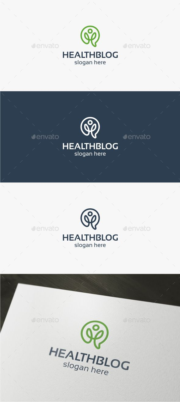 Health Blog - Logo Design Template Vector #logotype Download it here: http://graphicriver.net/item/health-blog-logo/15341032?s_rank=1191?ref=nesto