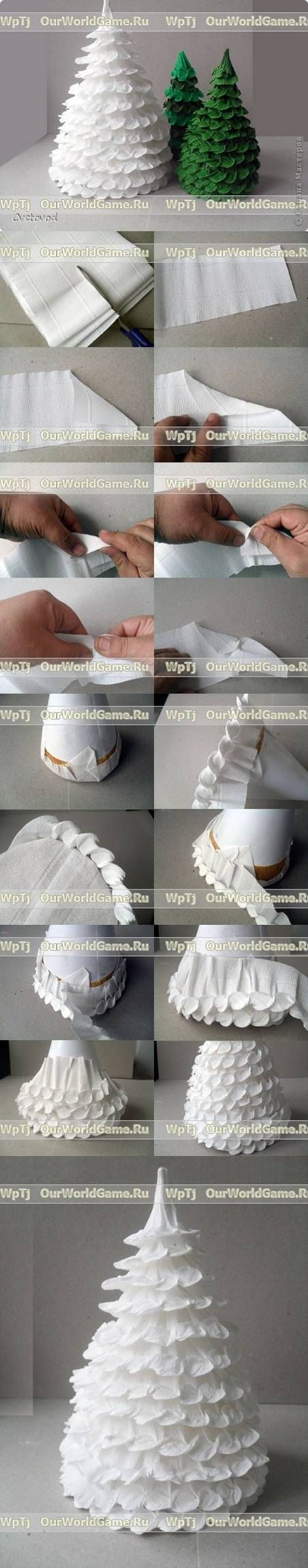 DIY Corrugated Paper Christmas Tree diy how to tutorial