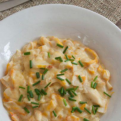 Haddock in cheese sauce