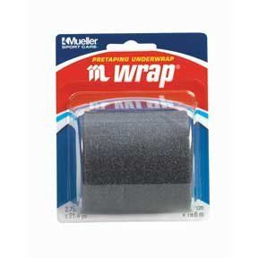 """Mueller M WRAP - Black- 2.75"""" Roll by Mueller. $3.14. Mueller M WRAP BLACK SPORT CARE   2.75 '' x 21.4 yd roll (6.9 cm x 19.5 m) Black   Model: 430707 
