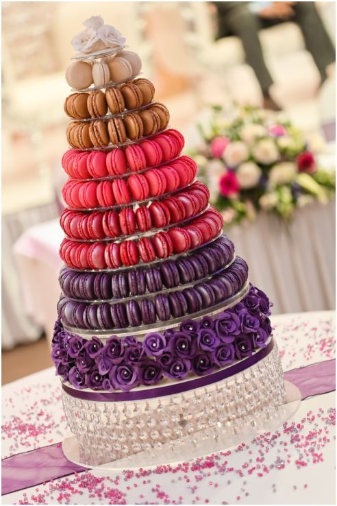Contemporary Macaron Tower Quot Wedding Cake Quot By Ganache