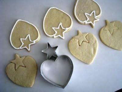 Gebäckausstecher - Herz + Stern = Erdbeere - heart cookie cutter + star cookie cutter = strawberry cookie