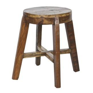 WOOOD kruk Inca 49x49x46 cm gerecycleerd hout