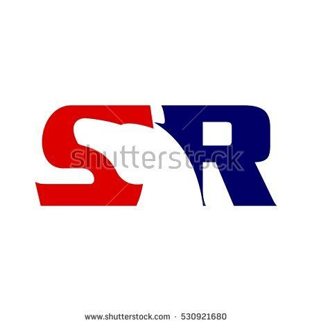 horse logo vector. letter S and R logotype.