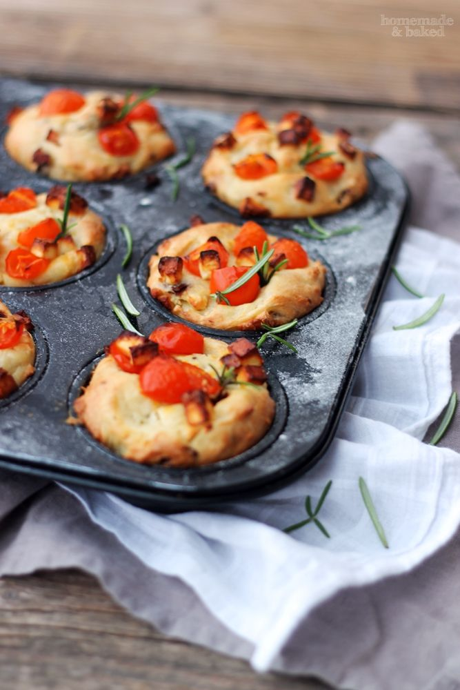Für das Silvester-Buffet: Herzhafte Muffins  http://homemadeandbaked.blogspot.de/