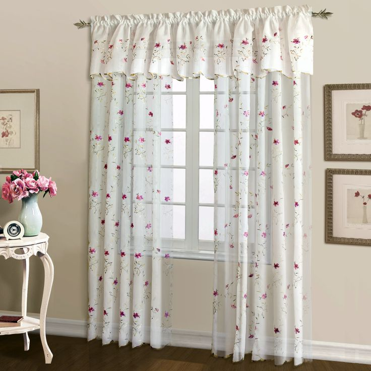 Loretta Embroidered Sheer Curtains Are An Elegant Or Casual Addition To Any  Window. Panels U0026