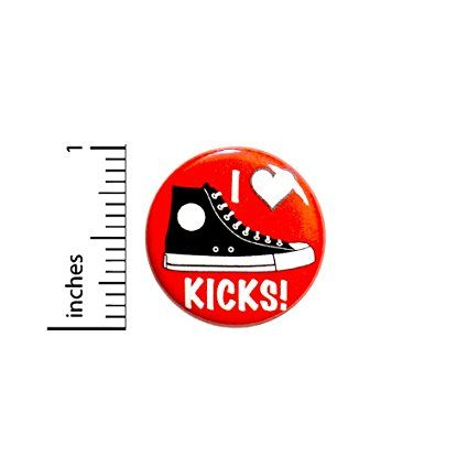 5219582e1890 I Love Kicks Button Shoe Sneaker Collector Pin Badge Pinback 1