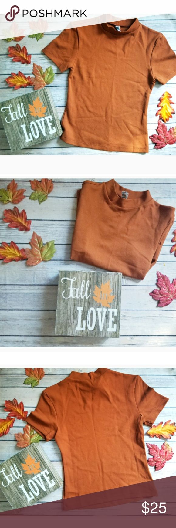 🎉American Apparel Burnt Orange Shirt🎉 Quality and cuteness? This AA rayon shirt is for you! Beautiful burnt Orange color for this season! Perfectly paired with jeans and boots or a long skirt and heels. Like new. American Apparel Tops