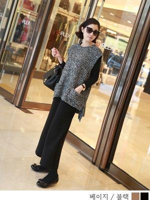 korean fashion online store [COCOBLACK] Knit Wide PT / Size : FREE / Price : 60.49 USD #korea #fashion #style #fashionshop #cocoblack #missyfashion #missy #pants #bottom #knitpants
