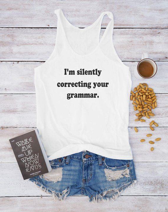 Im Silently Correcting Your Grammar Sleeveless Tank Tops Shirts Fit Men
