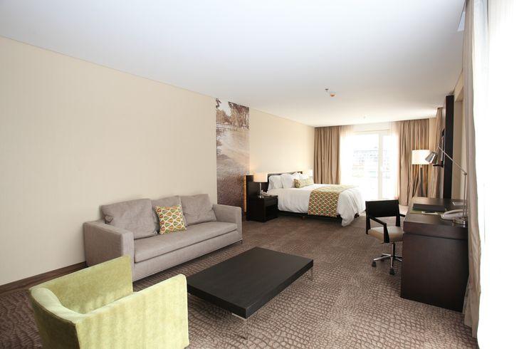 Hyndham Nordelta: Sus habitaciones están decoradas con elegantes muebles y ofrecen conexión Wi-Fi gratuita, TV LED por Cable, caja de seguridad, minibar, baño privado con hidromasaje, ducha, secador de pelo y amenities.