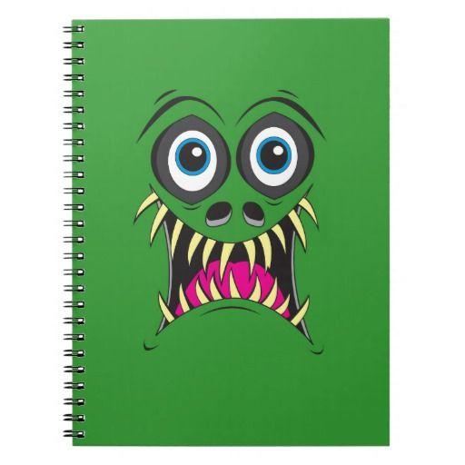 Monster Face Spiral Notebook
