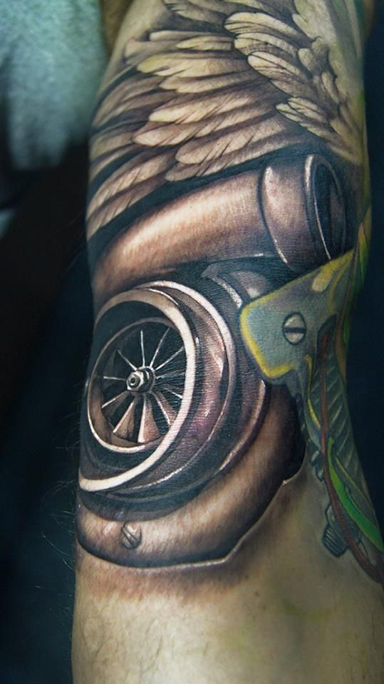 #ChronicInkTattooShop #Toronto #tattooartist #Tristen #drivefast #turbo #tattoo