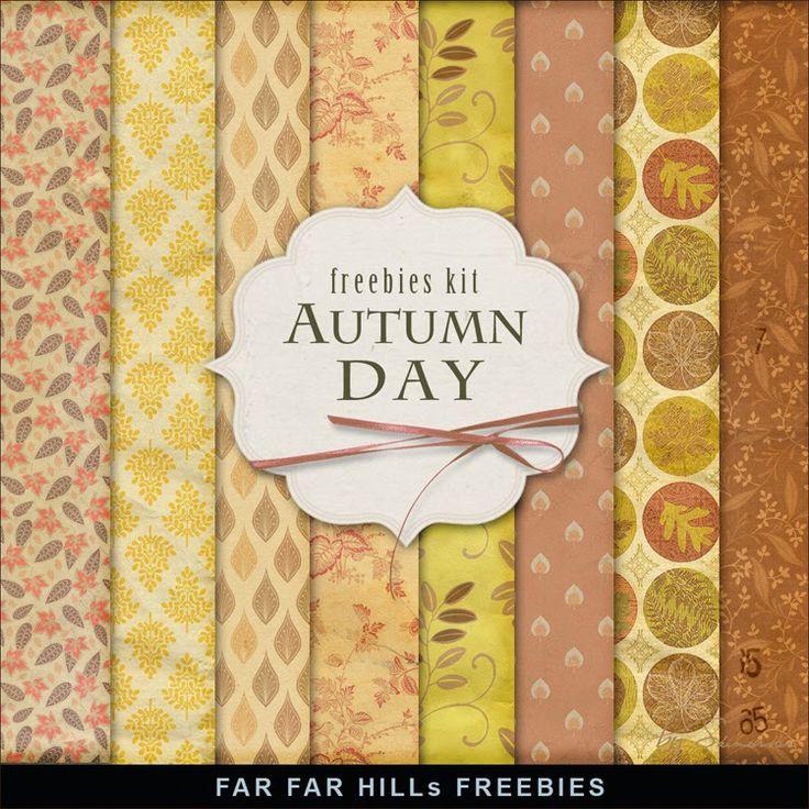 Nueva Freebies Kit de Papel - Día de otoño