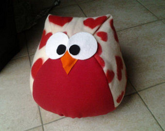 Gufo amore, felt, owl, heart