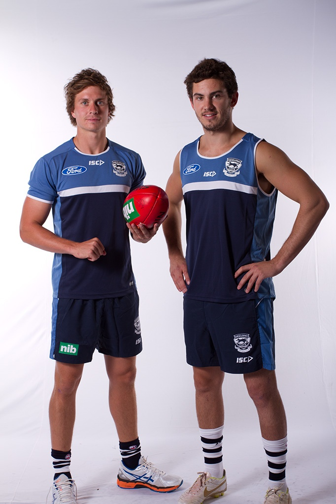 Mitch Duncan & Daniel Menzel ~ Geelong Cats at the ISC photoshoot