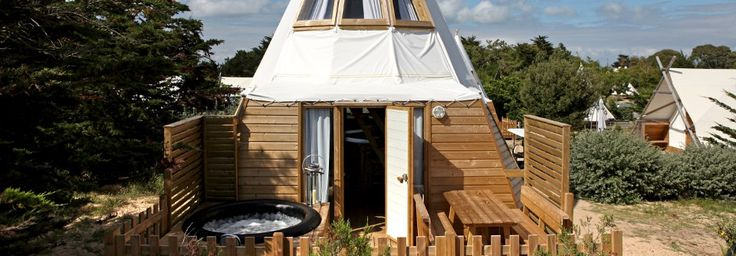 Holiday rentals Noirmoutier: Original Majestic Tipi camping luxury vacation rentals - Vendee   Domaine Les Moulins