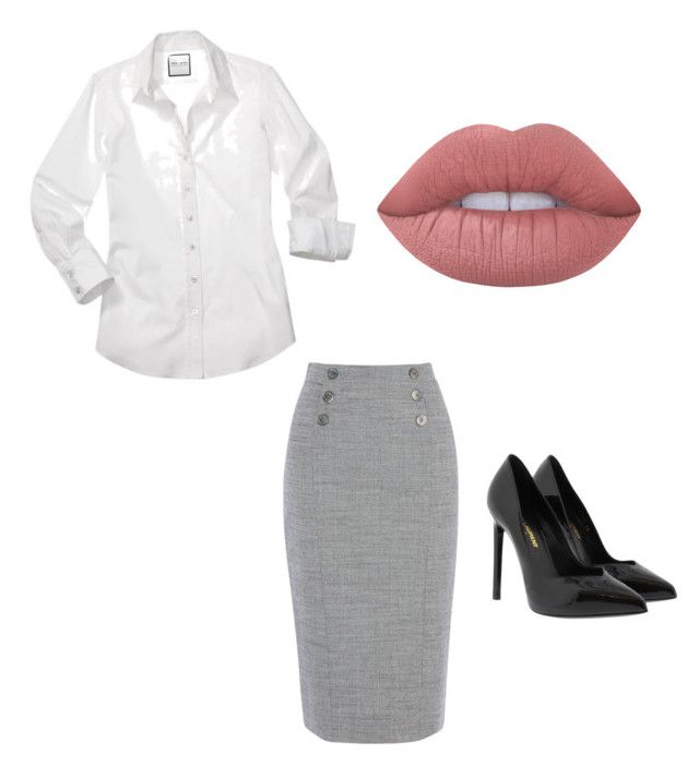 """""""Kit[1]"""" by agentpalmer on Polyvore featuring Yves Saint Laurent and Lime Crime"""