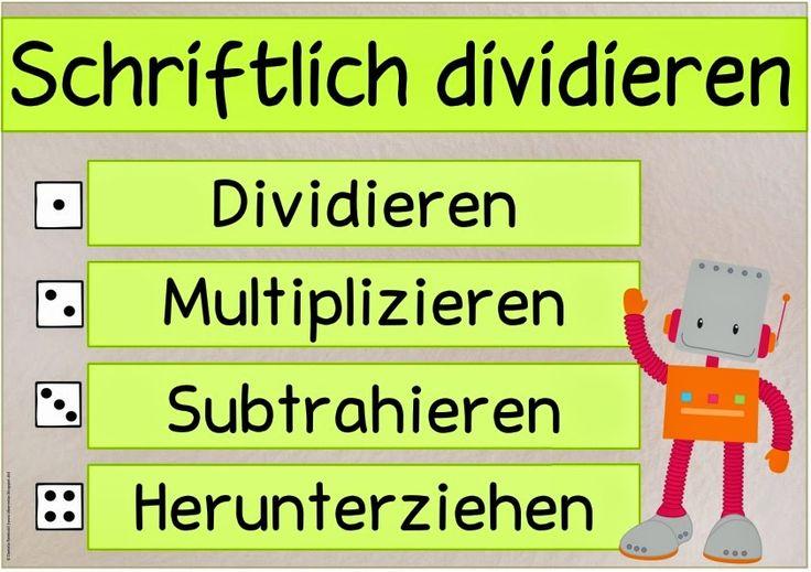 Mathe in der Grundschule: Plakat und Spickzettel zur schriftlichen Division