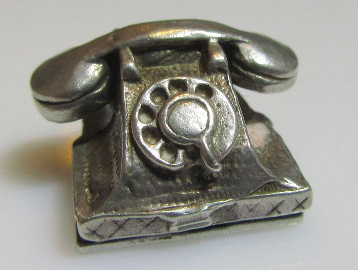 Silver Telephone 999 Emergency Charm Opens by TrueVintageCharms on Etsy