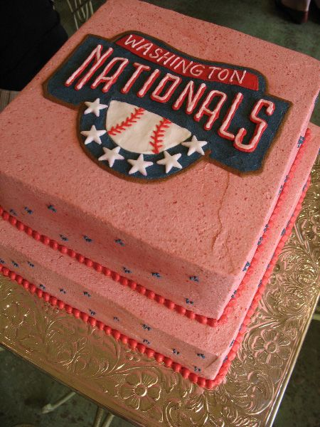 Washington Nationals Cake In 2019 Baseball Food Food