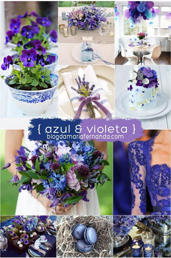 Decoração de Casamento : Paleta de Cores Azul e Violeta | http://blogdamariafernanda.com/decoracao-de-casamento-azul-e-violeta