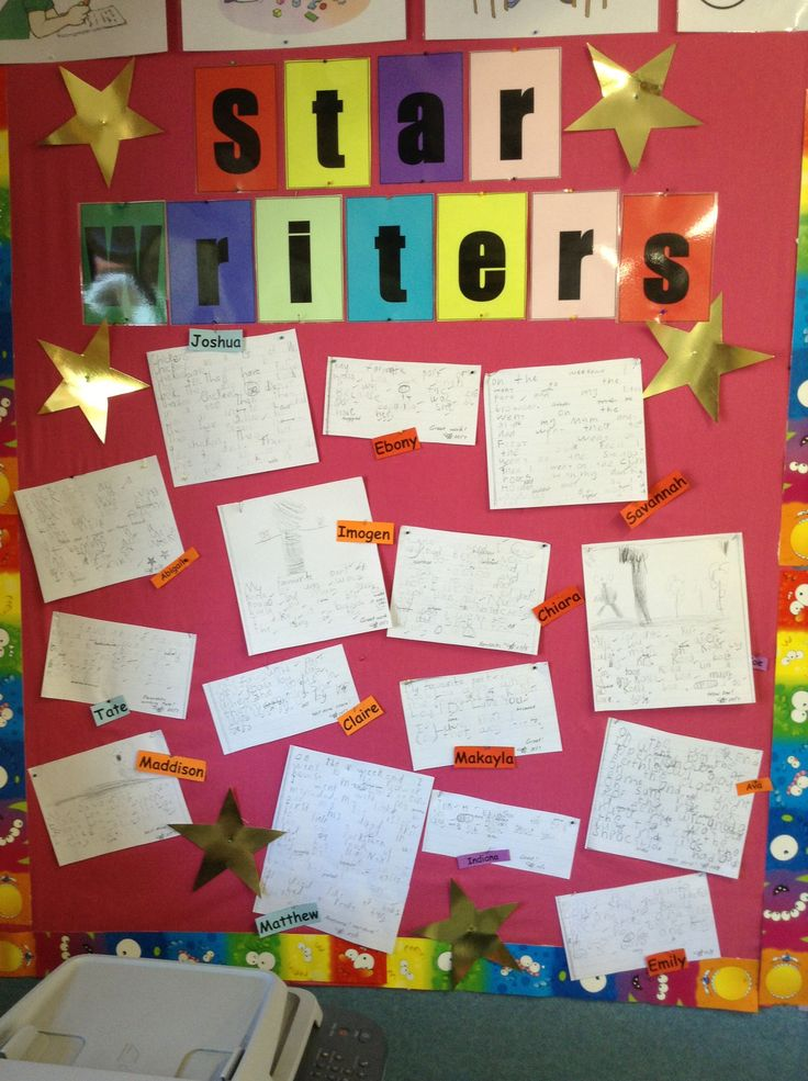 Great idea for motivating children in writing. Photocopy their best work straight from their writing books.