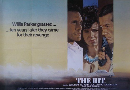 The Hit (1984) | Director Stephen Frears Ten years after he betrayed his gangster colleagues, Willie Parker (Stamp) finds his retirement in Spain interrupted by a couple of hitmen (John Hurt and Tim Roth) determined to take him back to Paris – but it's a long trip, and Willie, transformed by his years in exile, appears unafraid of death… Directed with unflashy expertise by Stephen Frears, the film also boasts a fine score by Paco de Lucia.