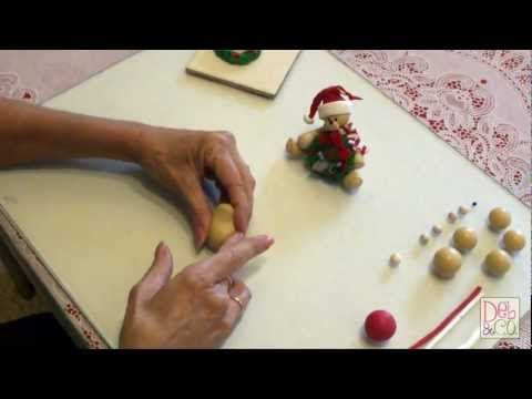 ▶ Polymer Clay - How to make a Christmas Bear - YouTube