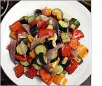 Fast Roasted Mediterranean Vegetables. Yum!