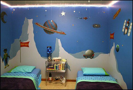 Boys Room Ideas Space outer space kids room theme | space+theme+bedroom+ideas-space+