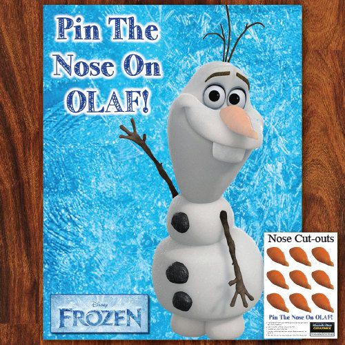 fozen pin the nose on olaf printable do it by