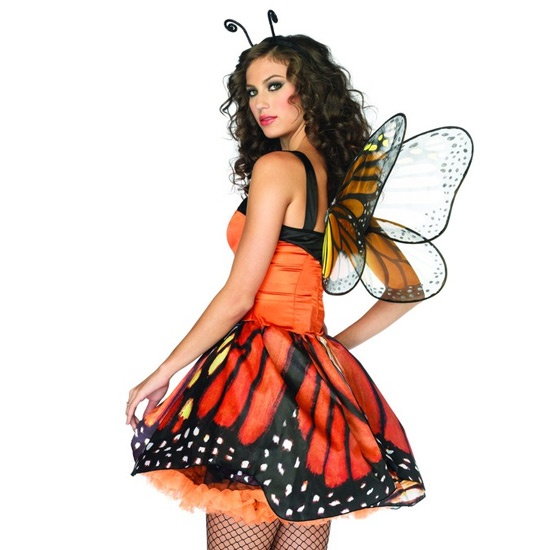 Disfraz de Mariposa monarca talla S Leg Avenue Lovely Monarch ...