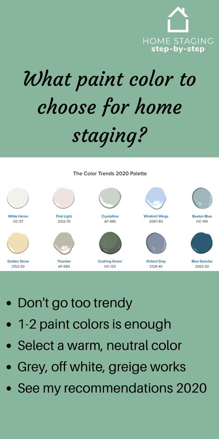 The 5 Perfect Paint Colors For Home Staging In 2020 In 2020