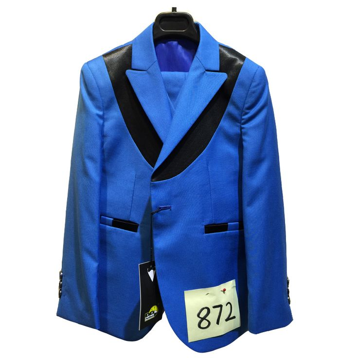 Boys blue Wedding suits Blazer Vest Shirt Tie and Trouser 5PCS Formal Attire for Kids Tuxedos 2-15Years Fall Clothing sets