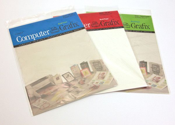 Grafix Shrink Film Clear Paper Crafting Paper