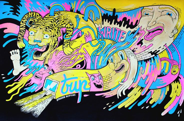Commissioned painting for Writers Madrid - MOLOTOW ® ONE4ALL. Madrid 2014.