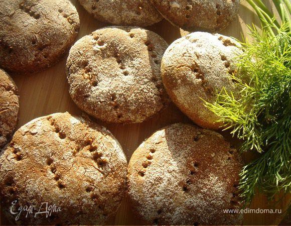 Финские ржаные лепешки по-быстрому. Ингредиенты: ржаная мука, йогурт натуральный, мед