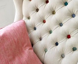 Pronto Fabric Range | Linwood Fabrics  Lovely idea for a chair makeover!