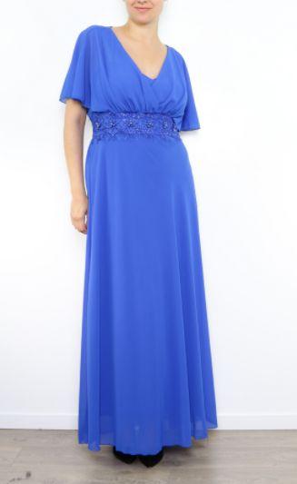 Vestido Capa Azul | Suen-Vestidos de fiesta