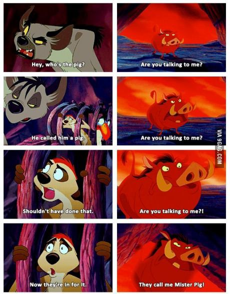 Lion King #disney #lionking #funny  'They call me Mr Pig!'