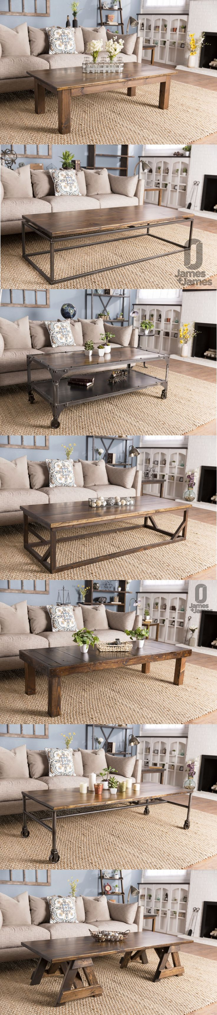 25 best ideas about rustic industrial furniture on for Industrial farmhouse coffee table
