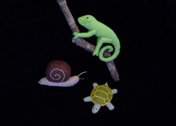 Slimy Snail Crawling Chameleon and Tranquil Turtle PDF Toy Pattern on Etsy, $5.99