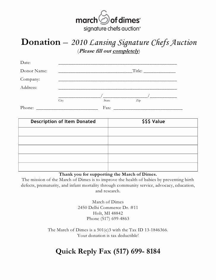Silent Auction Donation Form Template Elegant Chef S Auction Donation Form Auction Donations Silent Auction Donations Donation Form